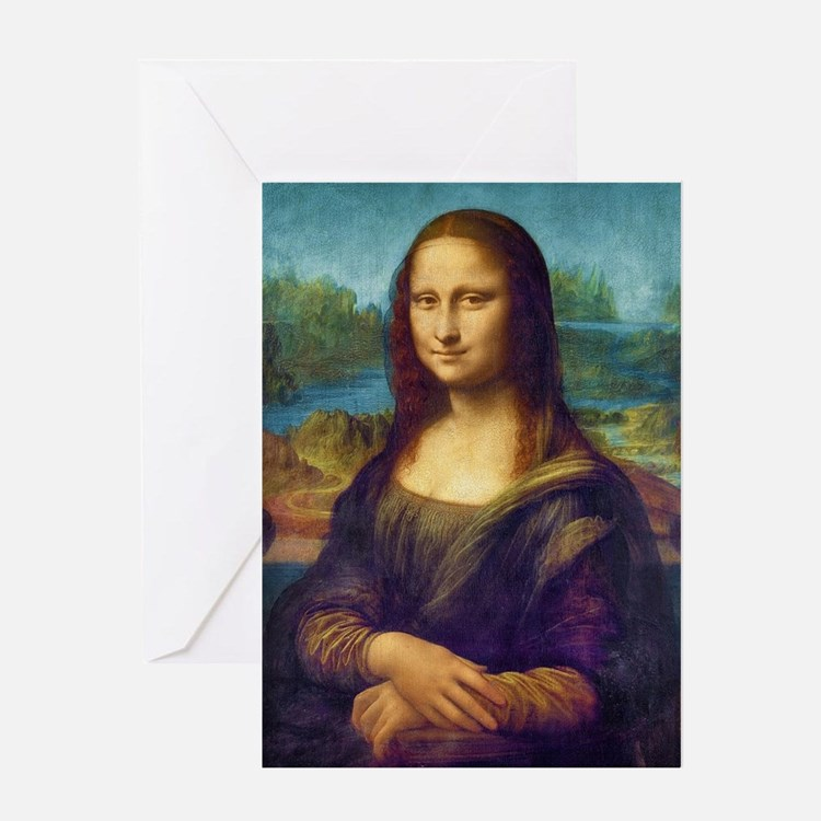 Da Vinci: Mona Lisa Greeting Cards