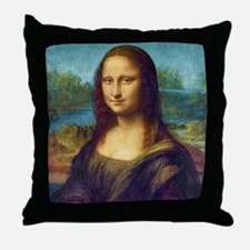 Da Vinci: Mona Lisa Throw Pillow