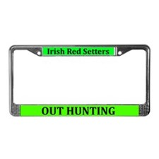 Irish Reds Out Hunting License Plate Frame
