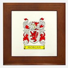 MORGAN Coat of Arms Framed Tile