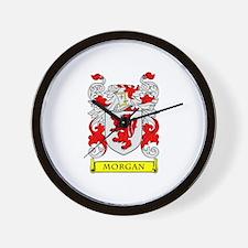 MORGAN Coat of Arms Wall Clock