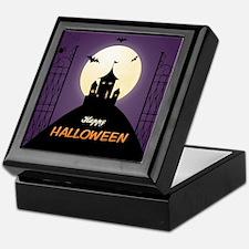 Spooky Haunted House Keepsake Box