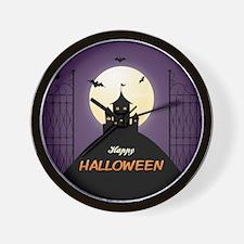 Spooky Haunted House Wall Clock