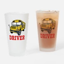 School Bus Driver Drinking Glass