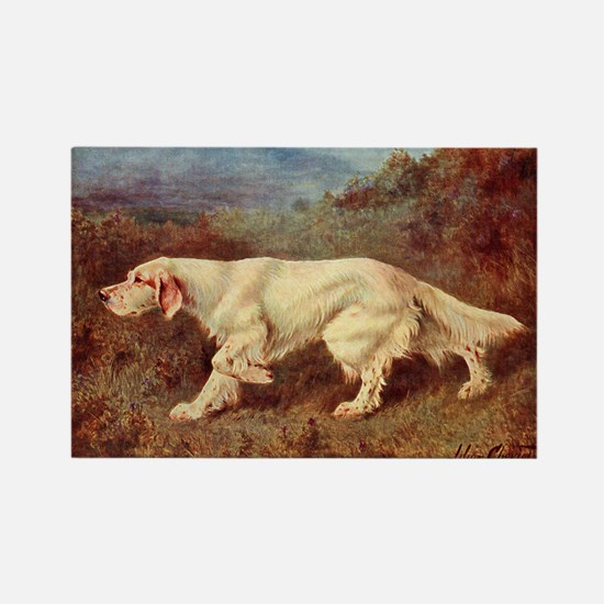 English Setter Watercolor Rectangle Magnet