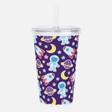 Outer Space Astronaut Acrylic Double-wall Tumbler