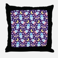 Outer Space Astronaut rockets Throw Pillow