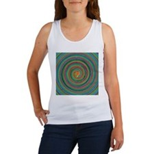 Green and Pink Spiral Tank Top
