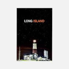 Long Island. Montauk Point Light. Rectangle Magnet