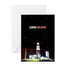 Long Island. Montauk Point Light. Greeting Card