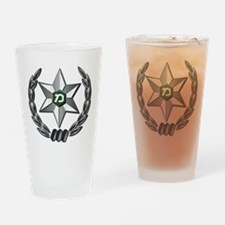 Israel - Green Border Police Hat Ba Drinking Glass