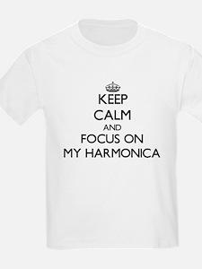 Keep Calm and focus on My Harmonica T-Shirt