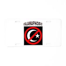 ISLAMAPHOBE Aluminum License Plate