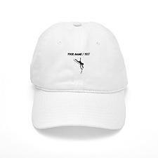 Custom Pole Vaulter Silhouette Baseball Baseball Cap