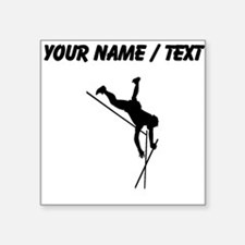Custom Pole Vaulter Silhouette Sticker