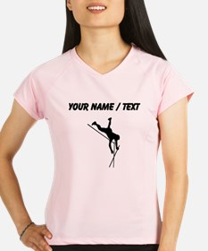 Custom Pole Vaulter Silhouette Performance Dry T-S