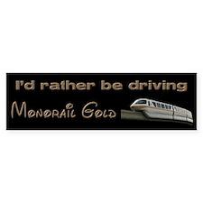 Monorail Gold Bumper Bumper Sticker