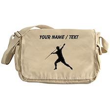 Custom Javelin Throw Silhouette Messenger Bag