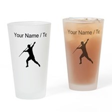 Custom Javelin Throw Silhouette Drinking Glass