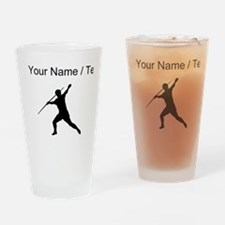 Custom Javelin Throw Silhouette Drinking Glass