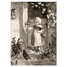 Example Of 19th Century Children's Book Illustrati Poster