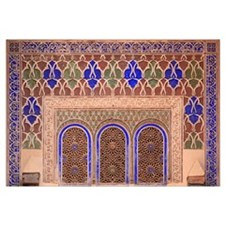 Intricate Painted And Stucco Patterns On The Walls