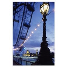 London Eye At Night Poster