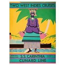 Cover Of Descriptive Brochure For Cunard Line's Tw Poster
