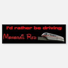 Monorail Red Bumper Bumper Bumper Sticker