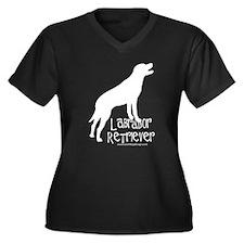 Labrador Retriever Women's Plus Size V-Neck Dark T