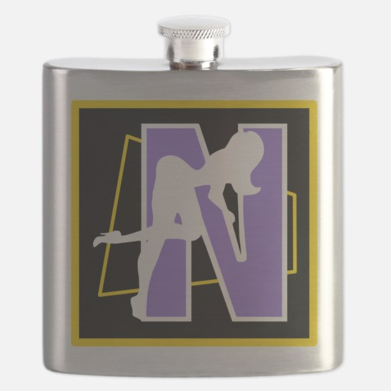 Naughty Initial Design (N) Flask