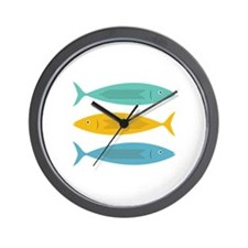 Stacked Fish Wall Clock