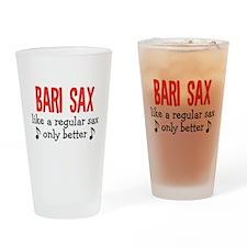 Bari Sax Drinking Glass