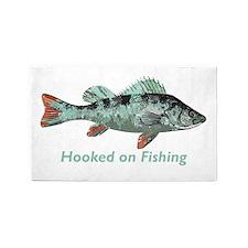 Hooked On Fishing Fun Fisherman 3'x5' Area Rug