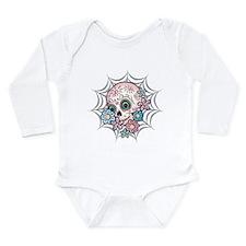 Sweet Sugar Skull Long Sleeve Infant Bodysuit