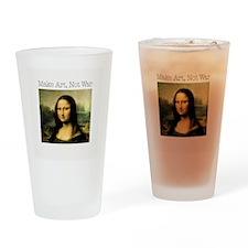 MakeArtNotWar1.jpg Drinking Glass