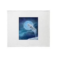 spirit wolf Throw Blanket