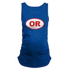 Oregon OR Euro Oval Maternity Tank Top