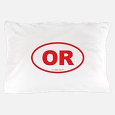 Oregon OR Euro Oval Pillow Case