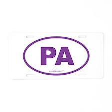 Pennsylvania PA Euro Oval Aluminum License Plate