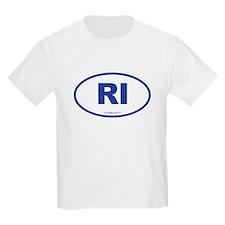Rhode Island RI Euro Oval T-Shirt