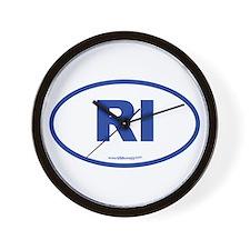 Rhode Island RI Euro Oval Wall Clock