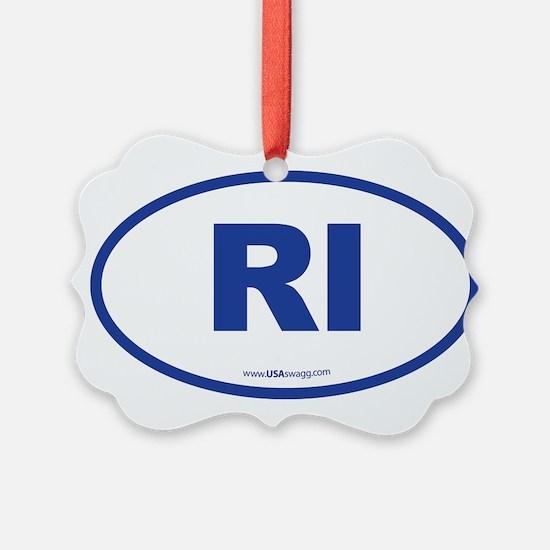 Rhode Island RI Euro Oval Ornament