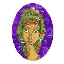Goddess 2 Oval Ornament