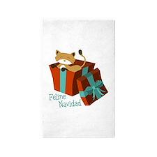 Feline Navidad 3'x5' Area Rug