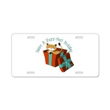 Have A Purr-Fect Holiday Aluminum License Plate