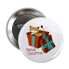 "Meowy Christmas 2.25"" Button (10 pack)"
