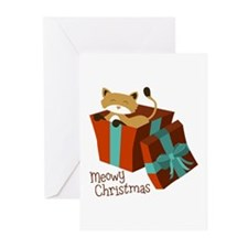 Meowy Christmas Greeting Cards