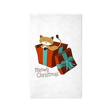 Meowy Christmas 3'x5' Area Rug