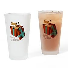 Meowy Christmas Drinking Glass